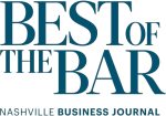 "Nashville Business Journal ""Best of The Bar"""